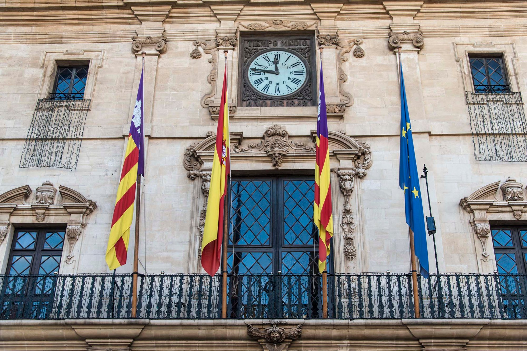 fachada del Ayuntamiento de Palma de Mallorca